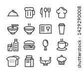 food icons pack. isolated fast... | Shutterstock .eps vector #1429290008