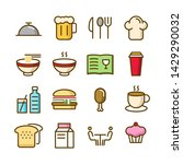 food icons pack. isolated fast... | Shutterstock .eps vector #1429290032