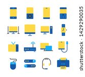 device line icon set.... | Shutterstock .eps vector #1429290035