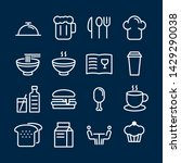 fast food icons pack. isolated... | Shutterstock .eps vector #1429290038