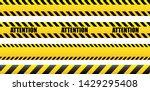 seamless tape attention  danger.... | Shutterstock .eps vector #1429295408