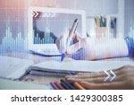 financial forex charts... | Shutterstock . vector #1429300385