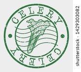allergen food stamp. celery... | Shutterstock .eps vector #1429303082