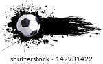soccer ball with splashes of ink | Shutterstock .eps vector #142931422