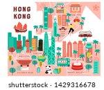 Map Of Hong Kong Drawn By Hand. ...