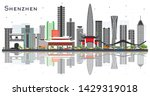 shenzhen china city skyline... | Shutterstock .eps vector #1429319018