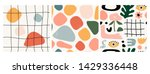 set of three seamless patterns. ... | Shutterstock .eps vector #1429336448