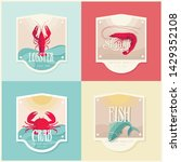vector fish  crab  lobster ... | Shutterstock .eps vector #1429352108