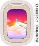 aairplane window vector... | Shutterstock .eps vector #1429358915