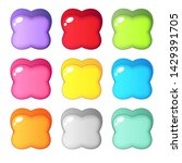 cute colorful candy shape four...