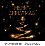 sparkling christmas tree on... | Shutterstock . vector #142939222