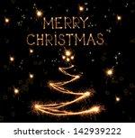 sparkling christmas tree on... | Shutterstock . vector #142939222