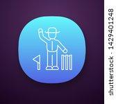 cricket judge app icon. umpire...
