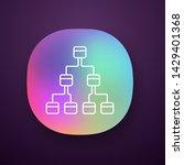 tree diagram app icon....