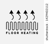 system of heating icon.floor... | Shutterstock .eps vector #1429402112