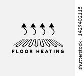 system of heating icon.floor... | Shutterstock .eps vector #1429402115