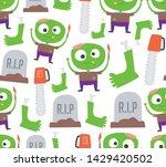 seamless halloween pattern....   Shutterstock .eps vector #1429420502