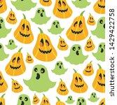 seamless halloween pattern....   Shutterstock .eps vector #1429422758