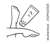 moisturizing foot cream ... | Shutterstock .eps vector #1429423535