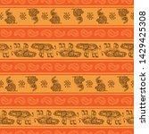 indian kalamkari batik with an ...   Shutterstock .eps vector #1429425308