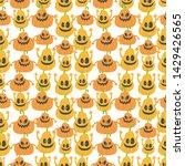 seamless halloween pattern....   Shutterstock .eps vector #1429426565