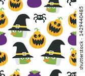 seamless halloween pattern....   Shutterstock .eps vector #1429440485