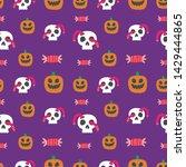 seamless halloween pattern....   Shutterstock .eps vector #1429444865