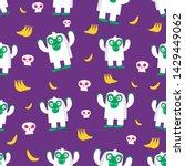 seamless halloween pattern....   Shutterstock .eps vector #1429449062
