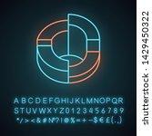 three dimensional diagram neon... | Shutterstock .eps vector #1429450322