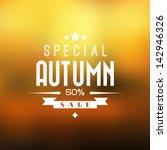 Autumn Sale Vector Retro Poste...
