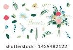 vector floral bouquet design.... | Shutterstock .eps vector #1429482122