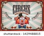 vintage circus poster with... | Shutterstock .eps vector #1429488815