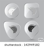 hard hat. glass buttons. vector ...