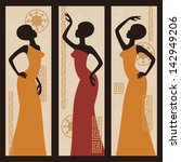 beautiful african american...   Shutterstock .eps vector #142949206