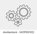 metal gears and cogs vector.... | Shutterstock .eps vector #1429501922
