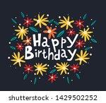 beautiful happy birthday... | Shutterstock .eps vector #1429502252