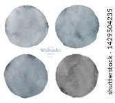 set of color watercolor stains. ... | Shutterstock . vector #1429504235