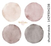 set of color watercolor stains. ... | Shutterstock . vector #1429504238