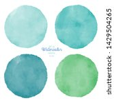 set of color watercolor stains. ... | Shutterstock . vector #1429504265