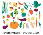 set with hand drawn colorful... | Shutterstock .eps vector #1429512635