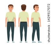 set of character a handsome... | Shutterstock .eps vector #1429517072