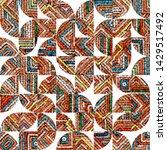motley bohemian seamless...   Shutterstock .eps vector #1429517492