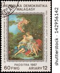 malagasy   circa 1987  a stamp... | Shutterstock . vector #142956142