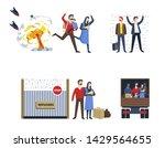 immigrants refugees family war... | Shutterstock .eps vector #1429564655