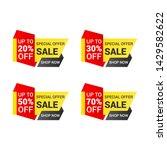 sale banner templates design.... | Shutterstock .eps vector #1429582622