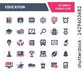 30 editable vector icons... | Shutterstock .eps vector #1429603682
