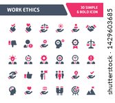 30 editable vector icons... | Shutterstock .eps vector #1429603685