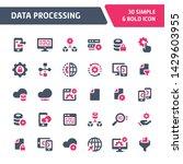 30 editable vector icons... | Shutterstock .eps vector #1429603955