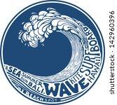 wave   Shutterstock .eps vector #142960396