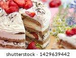 tiramisu homemade cake. italian ...   Shutterstock . vector #1429639442